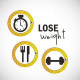 Lose weight design Stock Image