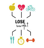 Lose weight design Stock Images