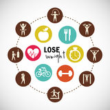 Lose weight design. Illustration eps10 graphic Royalty Free Stock Photos