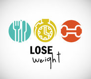 Lose weight design Royalty Free Stock Photo