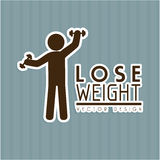 Lose weight. Design over gray background vector illustration Royalty Free Stock Photography