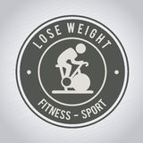 Lose weight. Design over gray background vector illustration Royalty Free Stock Images