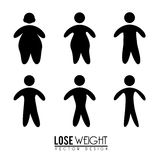 Lose weight. Design over white background vector illustration Stock Photos