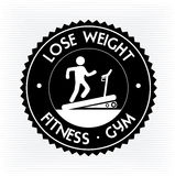 Lose weight. Design over white background vector illustration Stock Image