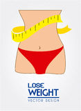 Lose weight. Design over white background vector illustration Stock Images