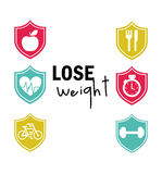 Lose weight design. Vector illustration eps10 graphic Royalty Free Stock Photography