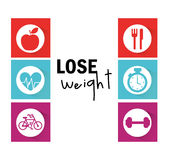 Lose weight design. Vector illustration eps10 graphic Stock Image