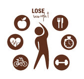Lose weight design Royalty Free Stock Images