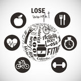 Lose weight design Royalty Free Stock Photography