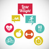 Lose weight design. Vector illustration eps10 graphic Royalty Free Stock Photos