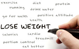 Lose Weight hand writing concept Stock Photos
