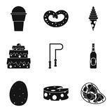 Lose weight icons set, simple style. Lose weight icons set. Simple set of 9 lose weight vector icons for web isolated on white background Royalty Free Stock Photography