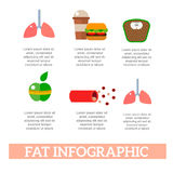 Lose weight by jogging infographic elements and health care concept flat vector illustration Stock Photo
