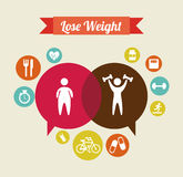 Lose weight. Over  beige background  vector illustration Royalty Free Stock Images
