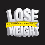 Lose weight. Over black background  vector illustration Royalty Free Stock Images