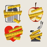 Lose weight. Over gray background vector illustration Royalty Free Stock Images