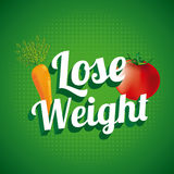 Lose weight. Over green background  vector illustration Stock Photography
