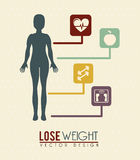 Lose weight. Over pink background  vector illustration Stock Image