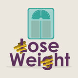 Lose weight. Over white background vector illustration Stock Image