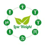 Lose weight. Over white background, vector illustration Royalty Free Stock Photo