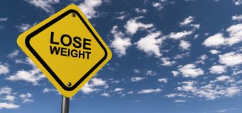 Lose weight sign Stock Image