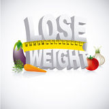 Lose wheight. Lose weight design over gray background vector illustration Stock Photos
