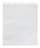 Loseblattanmerkungsblatt des quadrierten Papiers Stockfotografie