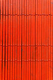 Сlosed red metal door Royalty Free Stock Images