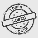 Loser rubber stamp isolated on white background. Grunge round seal with text, ink texture and splatter and blots, vector illustration Royalty Free Stock Photography