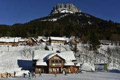 Loser Ski Area in Styria, Austria, Europe Royalty Free Stock Image