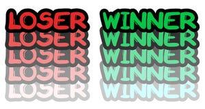 Loser winner Royalty Free Stock Image