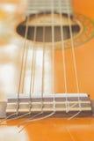 Loseup classical guitar in outdoor. Stock Image