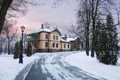 Loshitsa庄园,白俄罗斯,米斯克 库存照片