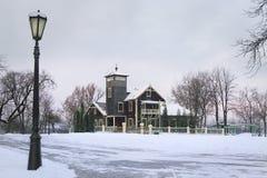 Loshitsa Manor, outbuilding Belarus, Minsk, 2017 royalty free stock photo