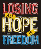 Losing all hope freedom, Vector image Royalty Free Stock Image