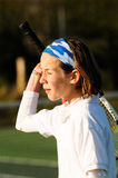 Losing a game of tennis Stock Images