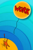 Losing a job: the work fly away! Royalty Free Stock Images