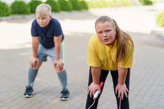 Losing Weight And Getting Healthy With Physical Activity At A Weight Loss Camp. Royalty Free Stock Photography