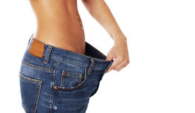 Losing weight. Royalty Free Stock Photo