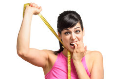 Losing weight is hard Royalty Free Stock Images