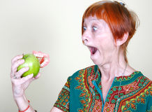 Losing your false teeth Stock Photography