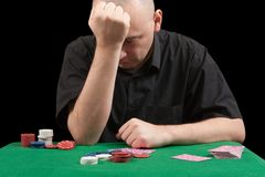 Losings in poker Stock Photos