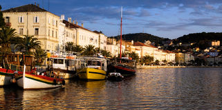 Losinj Port. View of the harbor of the largest place on the island  Losinj, known as Mali Losinj Royalty Free Stock Photos