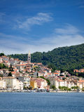 Losinj port. Daily view of town called Mali Losinj port from sea Royalty Free Stock Images