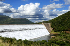 Loskop水坝南非溢洪道 库存图片
