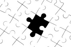 Loss. White puzzles It is a symbol (stereotypes, problems, dependence Stock Illustration