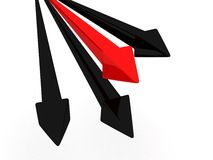 Loss arrow in red color Royalty Free Stock Photos