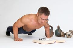 Loss chess pawn - fifty push-ups Royalty Free Stock Photography