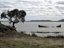 The loss coast. Shipwreck coast near Port of Conchillas Stock Images