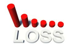 Loss diagram. Sales with a Diagram in red Stock Images